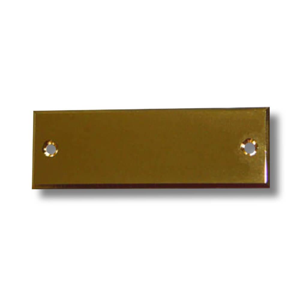 Klingelschild Messing poliert 60 x 20 x 2 mm