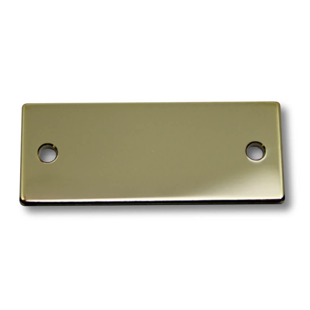 Klingelschild Messing poliert 50 x 20 x 2 mm