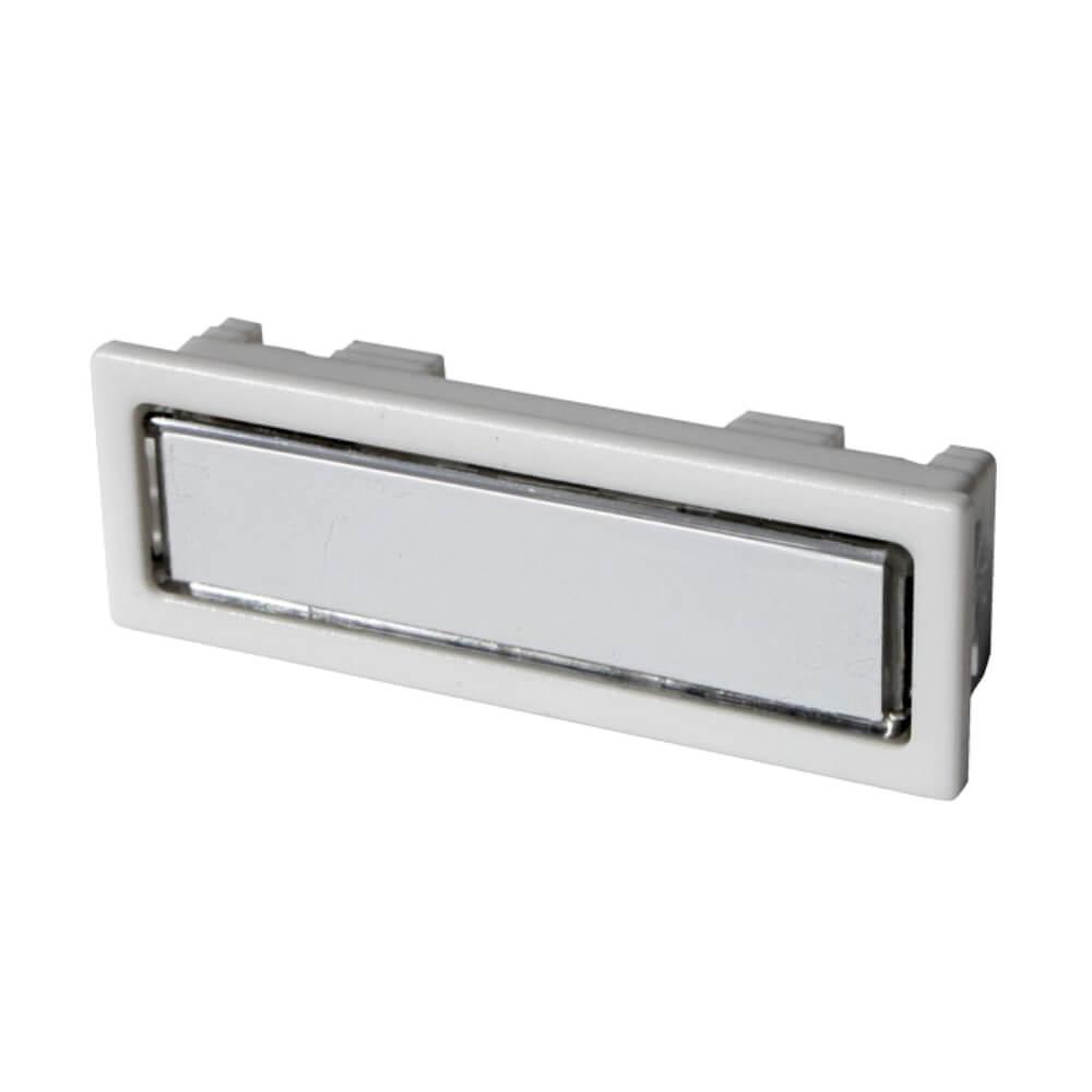 Klingeltaster aus Kunststoff weiß mit LED-Beleuchtung