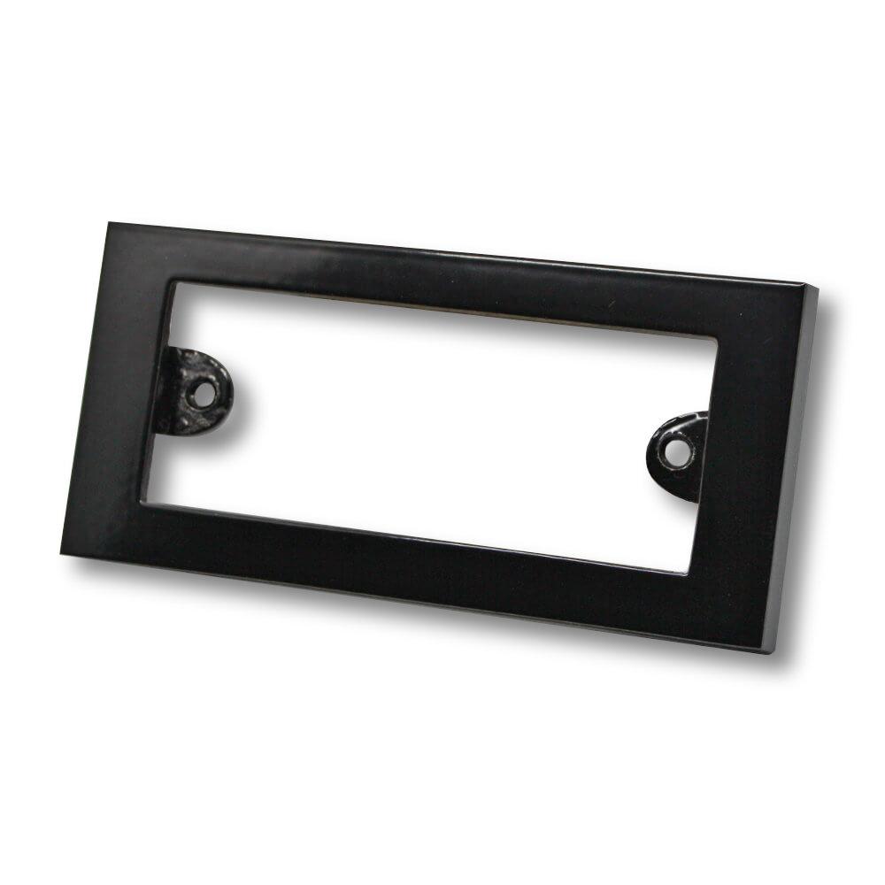 Etikettenrahmen Aluminium schwarz 98 x 48 mm
