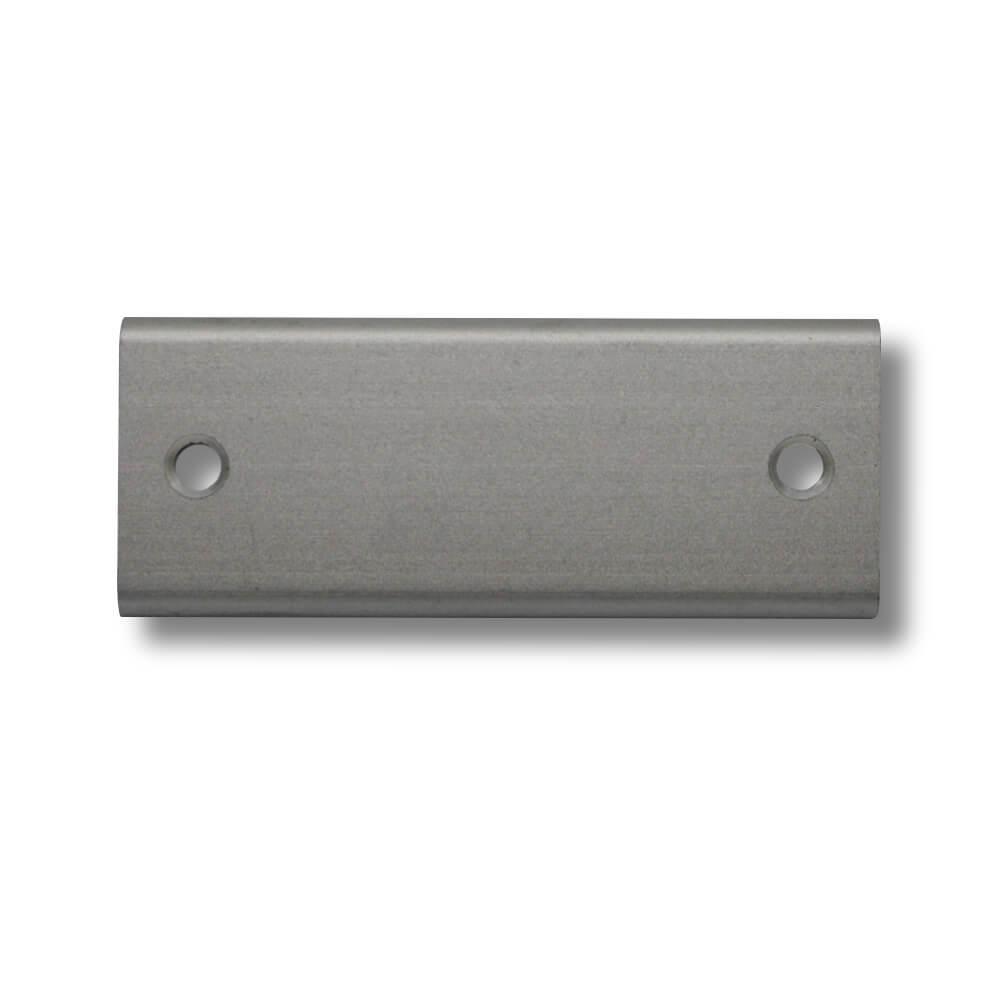 Klingelschild Alu silber 50 x 20 mm