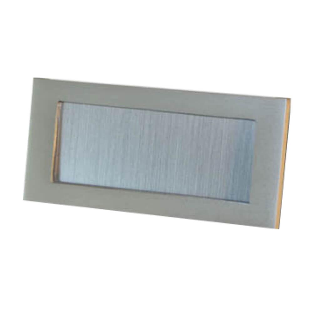 Etikettenrahmen Aluminium silber 98 x 48 mm