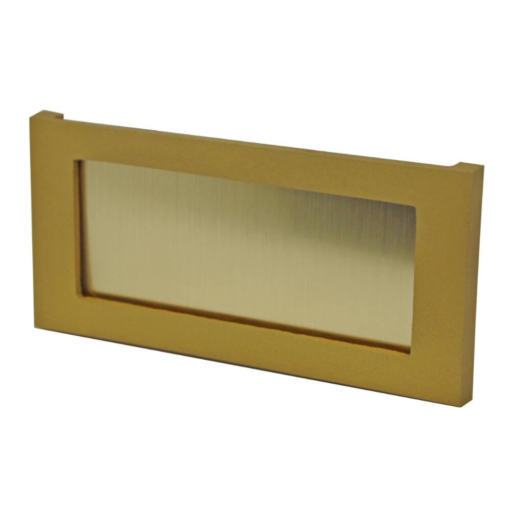 Etikettenrahmen Aluminium goldfarben 98 x 48 mm