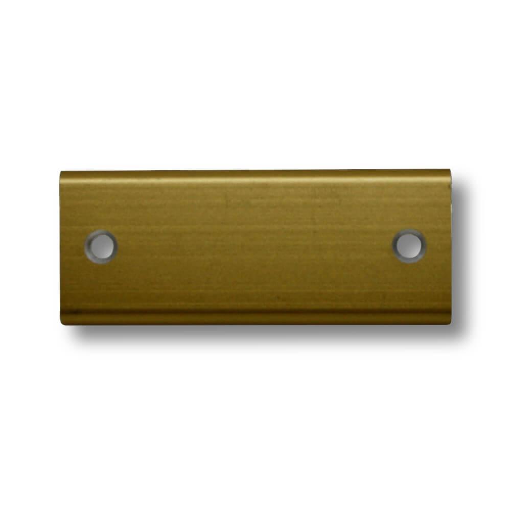 Klingelschild Alu gold 50 x 20 mm