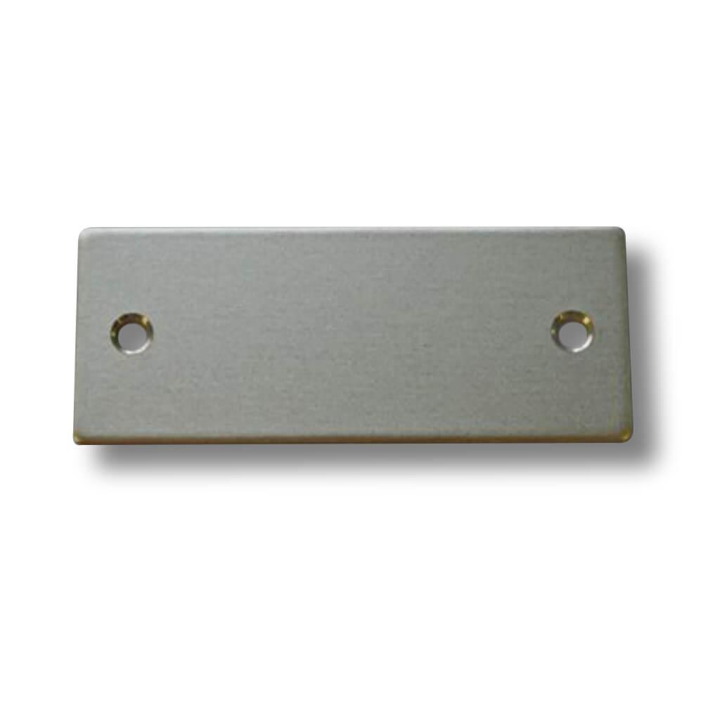 Klingelschild Aluminium silber 50 x 20 x 1,5 mm